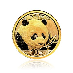 1 Gramm Goldmünze China Panda 2018