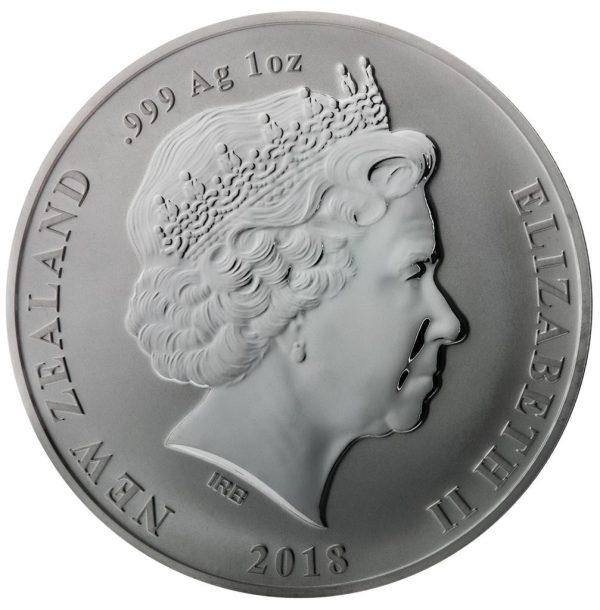 1 Unze Silbermünze Kiwi 2018