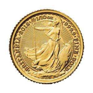 1/10 Unze Goldmünze Britannia 2018