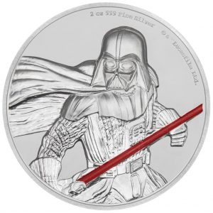 1 Unze Silbermünze Niue Star Wars Darth Vader 2017 UHR