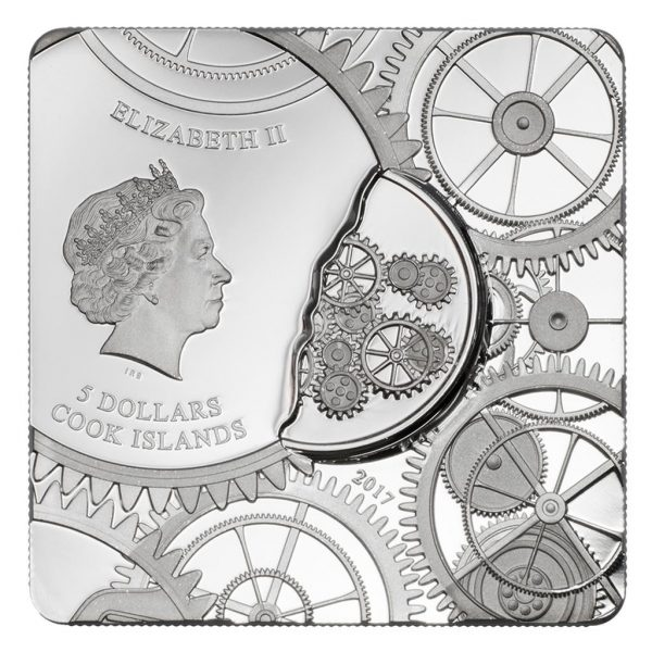 1 Unze Time Capsule Coin - Zeitkapsel-Münze Cook Islands
