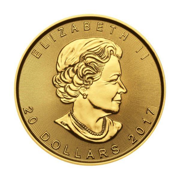 1/2 Unze Goldmünze Maple Leaf 2017