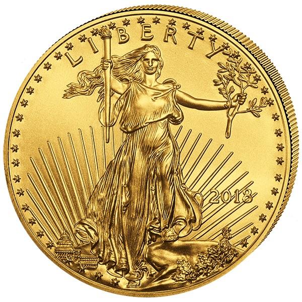 1/2 Unze Goldmünze American Eagle 2018