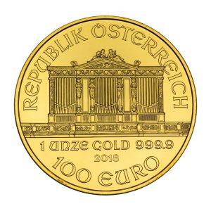 1 Unze Goldmünze Wiener Philharmoniker 2018