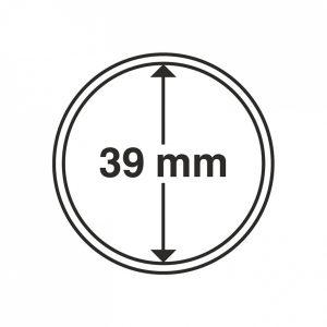 MÜNZKAPSELN 39 MM, 1 Stück