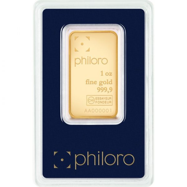 1 g Goldbarren philoro