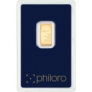 2,5 g Goldbarren philoro