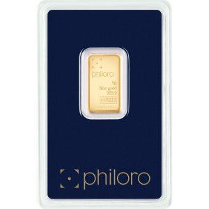 5 g Goldbarren philoro