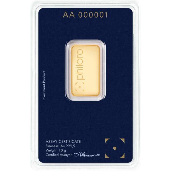 10 g Goldbarren philoro