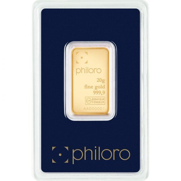 20 g Goldbarren philoro