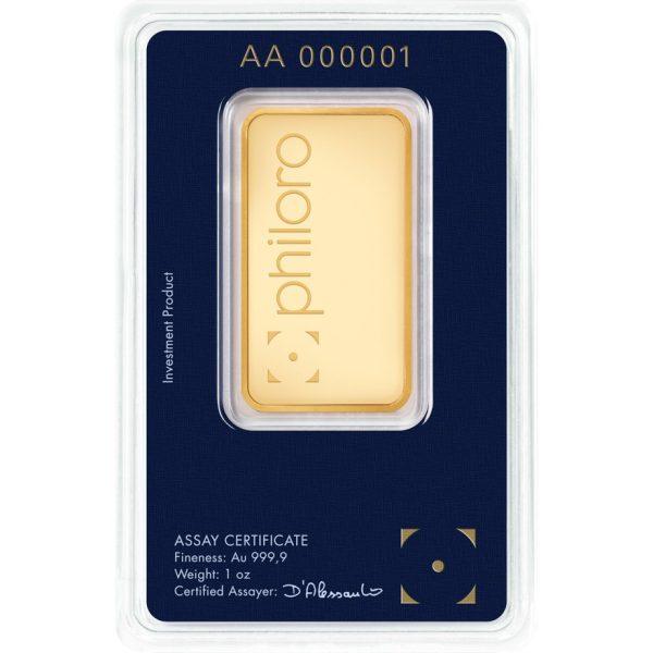 1 oz Goldbarren philoro
