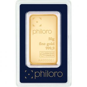 50 g Goldbarren philoro