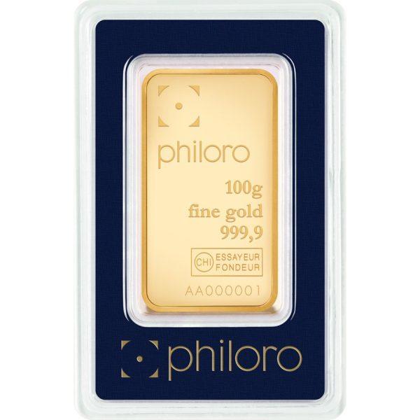 100 g Goldbarren philoro