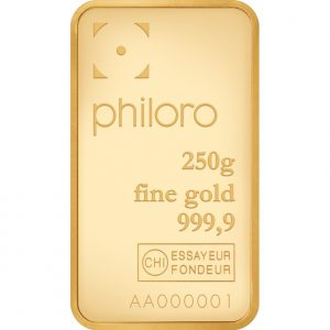 250 g Goldbarren philoro
