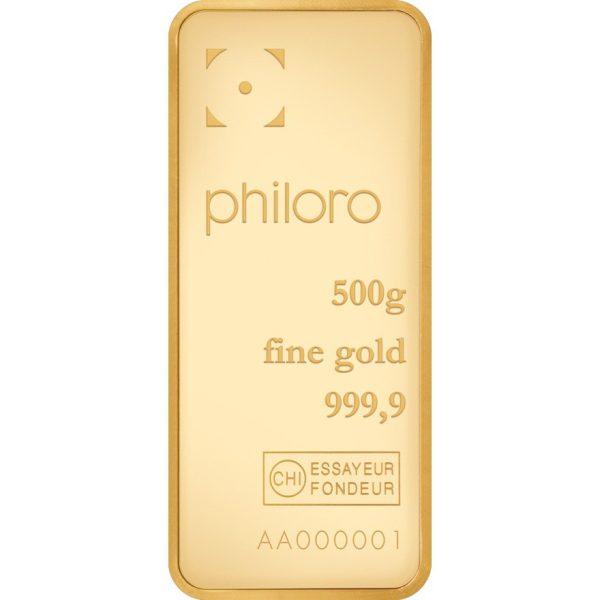 500 g Goldbarren philoro