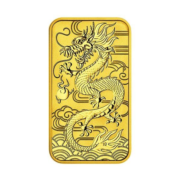 1 Unze Gold Münzbarren Drache Rechteck