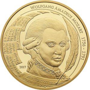 1/2 Unze Gold Mozart Coin 2017