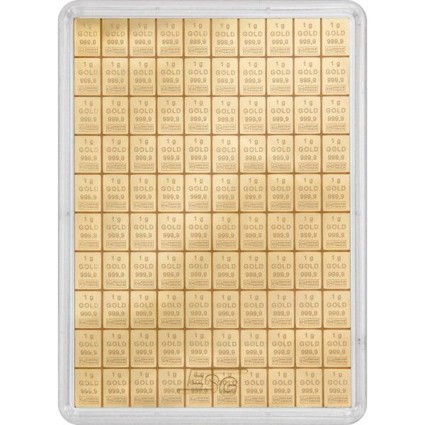 100 g Gold Tafelbarren Combibarren (Goldplättchen)
