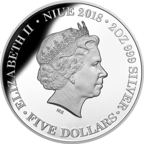 2 Unzen Silbermünze Niue Die erste Flotte High Relief