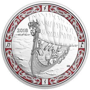 1 Unze Silbermünze Galionsfiguren -Wikingerfahrt (3.)