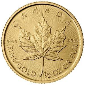 1/2 Unze Goldmünze Maple Leaf