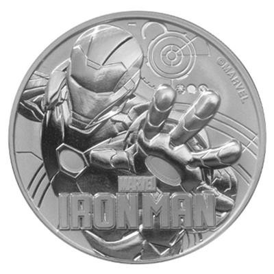 1 Unze Silber Tuvalu Iron Marvel Serie 2018