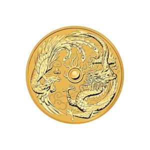 1 Unze Gold Drache & Phönix 2018