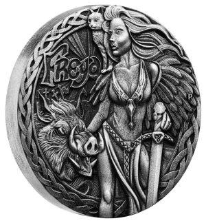 2 Unzen Silbermünze Nordische Göttinnen - Freya (1.) 2017