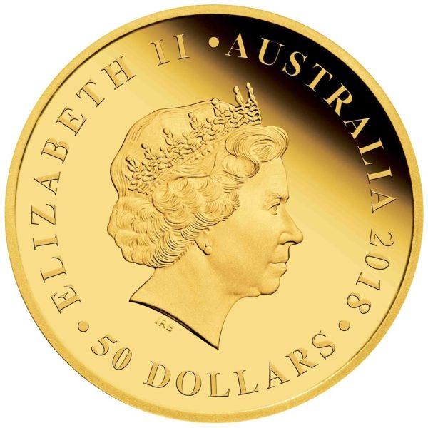 1/2 Unze Goldmünze Australischer Double Sovereign 2018 PP
