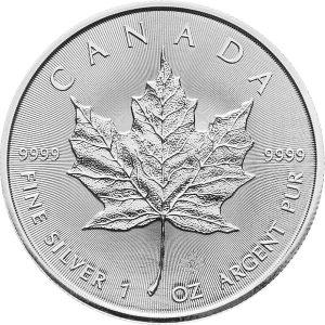 1 Unze Silber Maple Leaf 2018