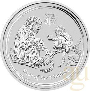 1 Unze Silbermünze Lunar II Affe 2016