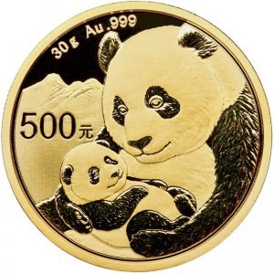 30 Gramm Goldmünze China Panda 2019
