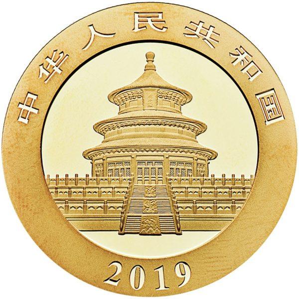 30 Gramm Goldmünze China Panda 2019