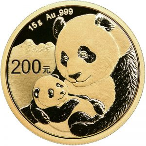 15 Gramm Goldmünze China Panda 2019