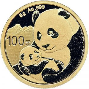 8 Gramm Goldmünze China Panda 2019