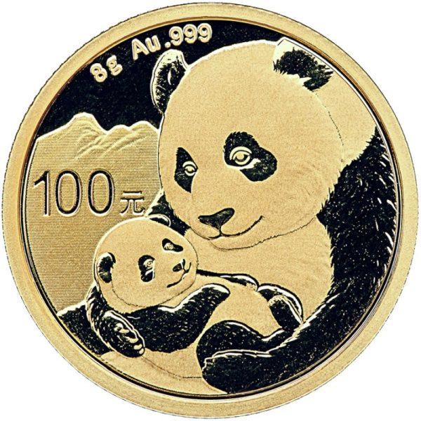 8 Gramm Goldmünze China Panda 2019