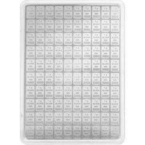 100 x 1 g Silber CombiCoin Münztafel