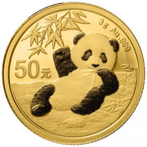 3 Gramm Goldmünze China Panda 2020