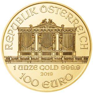 1 Unze Goldmünze Wiener Philharmoniker 2019