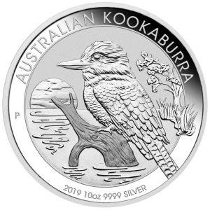 10 Unzen Silbermünze Kookaburra 2019