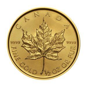1/2 Unze Goldmünze Maple Leaf 2019