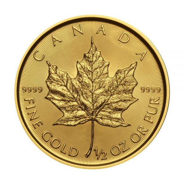 1/2 Unze Goldmünze Maple Leaf 2019
