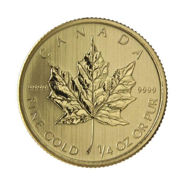 1/4 Unze Goldmünze Maple Leaf 2019