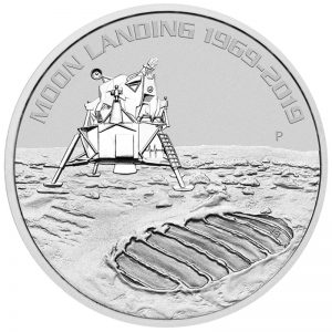 1 Unze Silber 50 Jahre Mondlandung