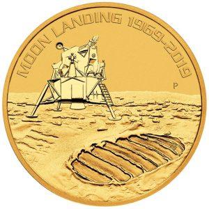 1 Unze Gold 50 Jahre Mondlandung