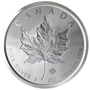 1 Unze Silber Maple Leaf Incuse 2019
