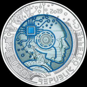25 Euro Silbermünze Künstliche Intelligenz Österreich