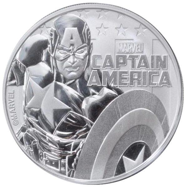 1 Unze Silber Tuvalu Capitain America Marvel Serie 2019