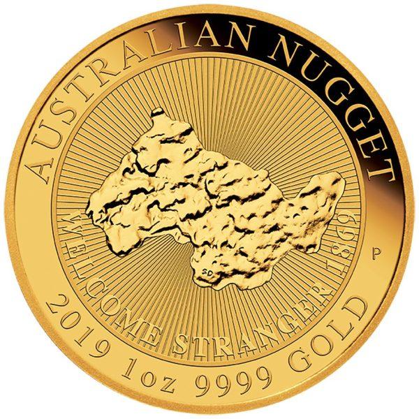 1 Unze Goldmünze Australian Nugget - Welcome Stranger