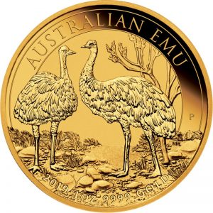 1 Unze Goldmünze Gold Emu 2019